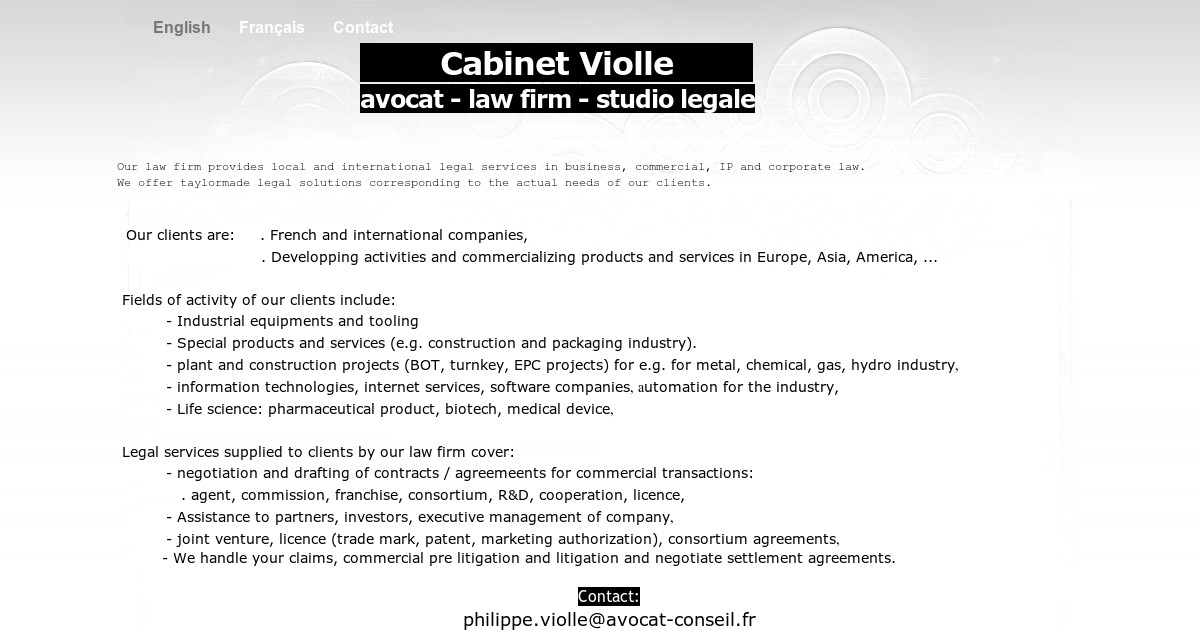 Cabinet Violle Lawfirm English